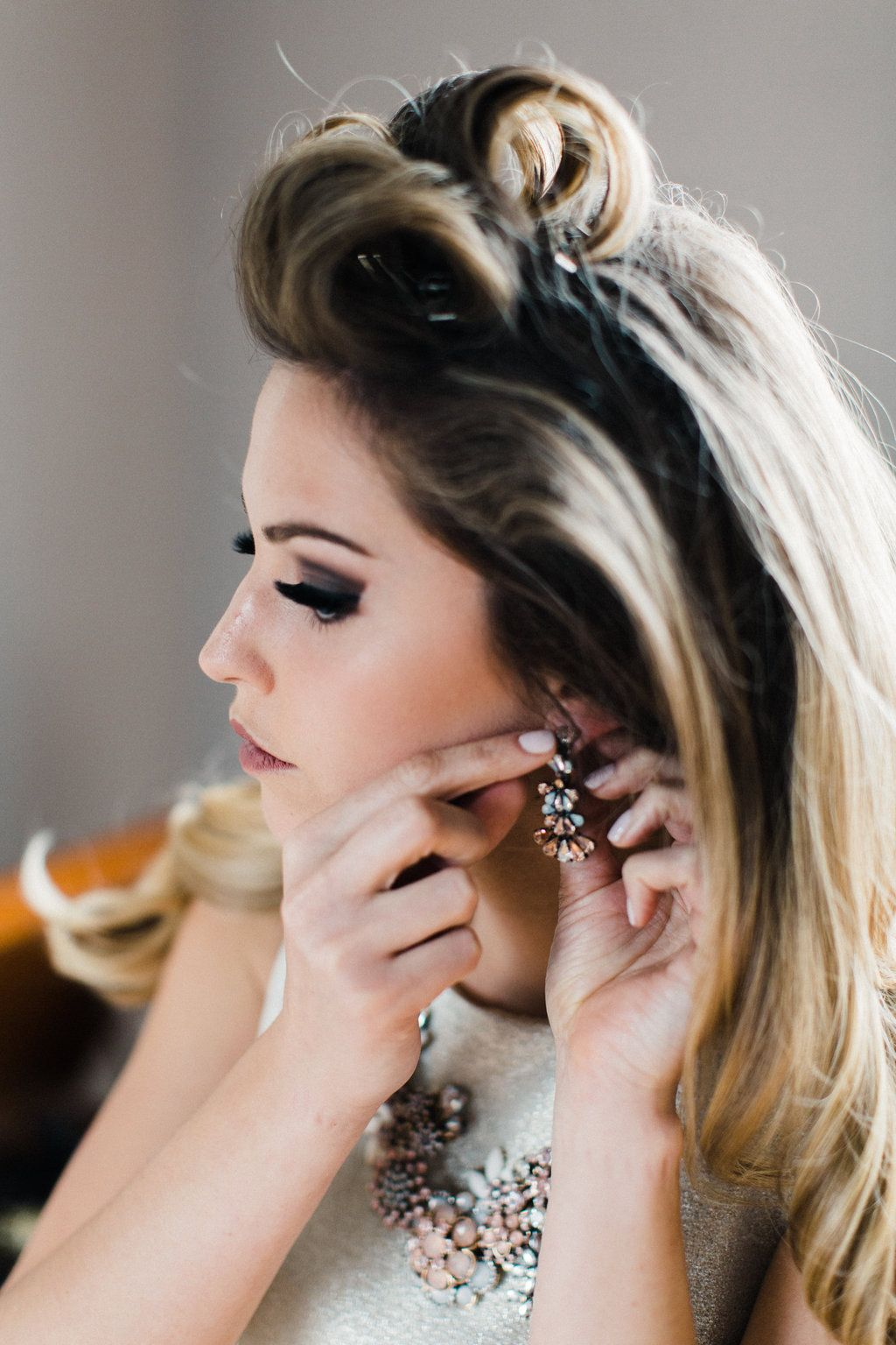 Styled Shoot 1960s Elopement Wedding Hairstyles Wedding