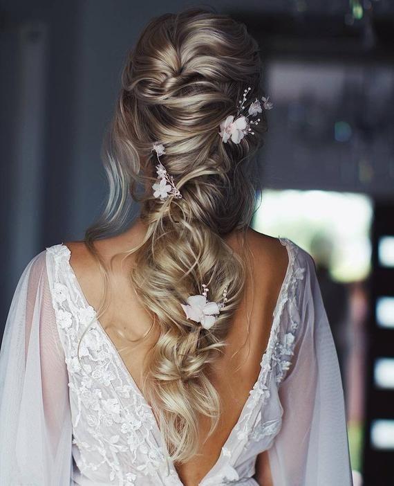 Bridal hair pins Floral hair pins Bride hair piece