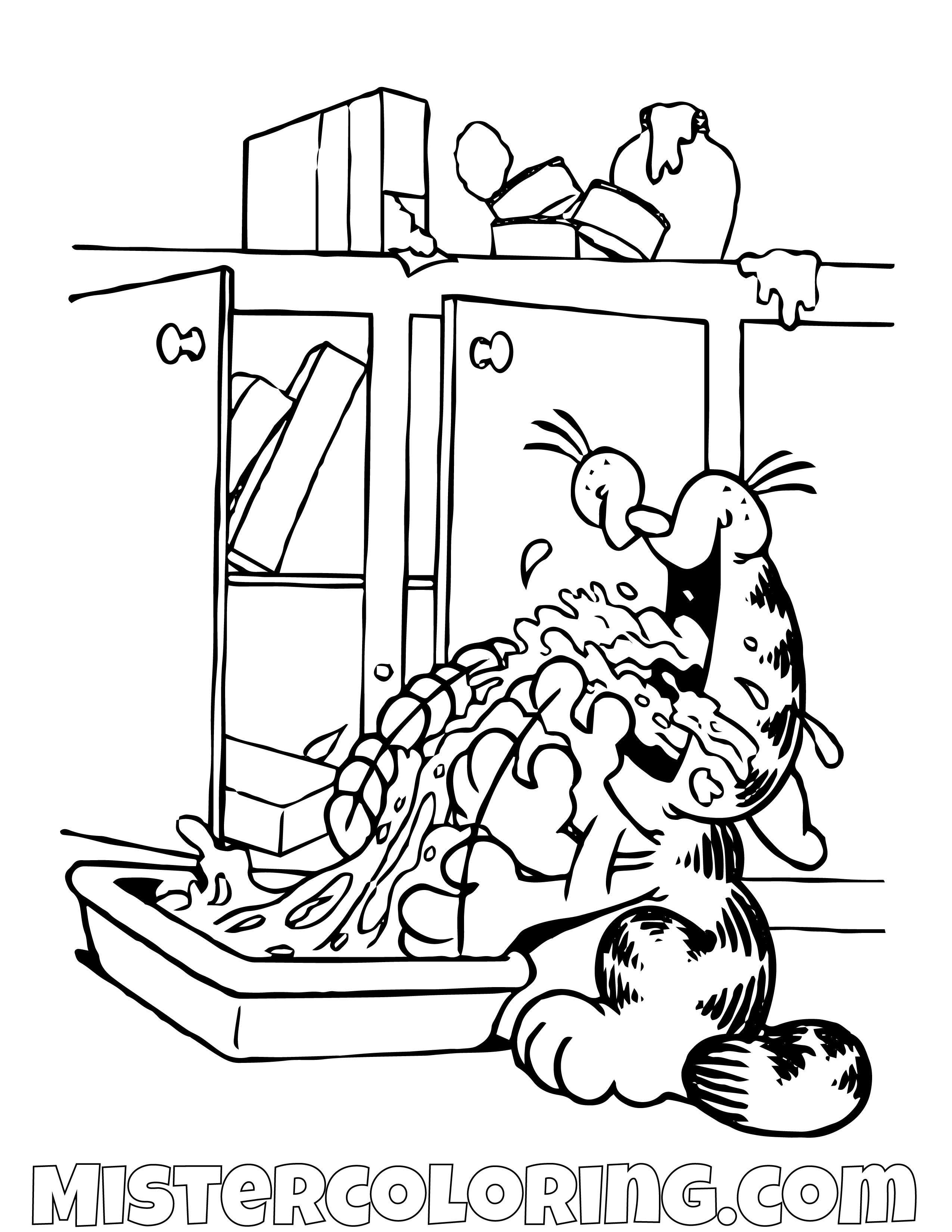 Garfield Coloring Pages For Kids Https Mistercoloring Com Garfield Coloring Pages Pirate Coloring Pages Coloring Pages Cartoon Coloring Pages