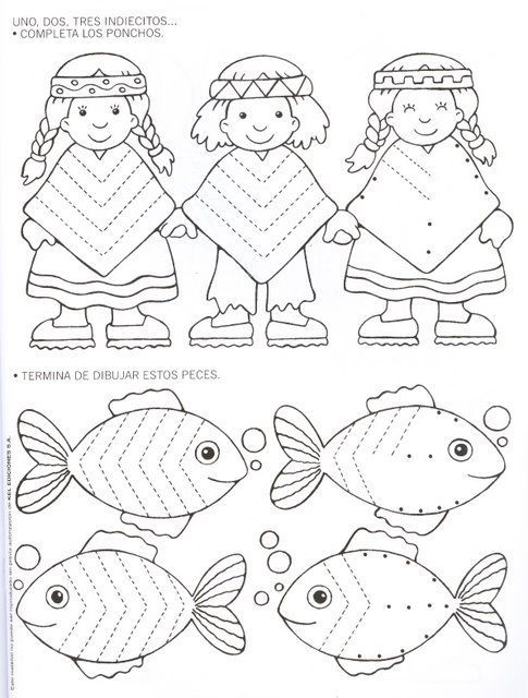native american trace worksheet (1) | preschool ideas | Pinterest ...