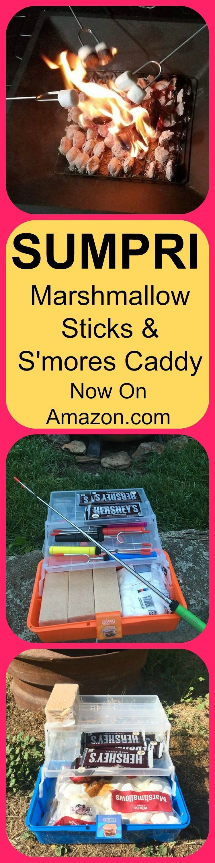 SUMPRI S'mores Caddy & 34 Inch extendable Marshmallow Roasting Sticks -Keep All Your S'mores Supplies In The Same Place ! On Sale now on Amazon.com or sumpri.com. . . . . ..... . #sumpri #s'mores #smorescaddy #marshmallowsticks #smores #smoresbox #smoressticks #hersheybar #grahmcrackers #roastingsticks #camping #travel #adventure #explore #family #fun #kids #box #crackers #smoreskit #s'moreskit #smorescaddy #graham #s'morescaddy #hershey #hersheysmores #smoressticks SUMPRI S'mores Caddy & 34 Inc #smoressticks