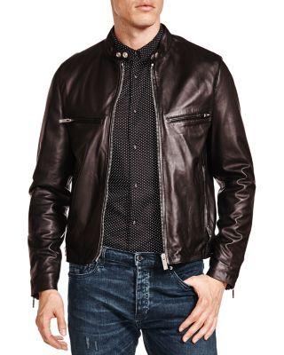THE KOOPLES Lamb Leather Racing Jacket. #thekooples #cloth #jacket
