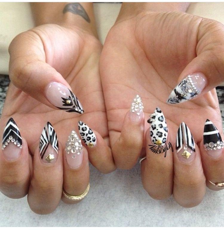 Pin by Moriah Totten on Stiletto nails | Pinterest | Nail nail, Nail ...