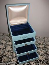 Vintage Mele Style Jewelry Box Chest w 3 Drawers Flip Top Opening