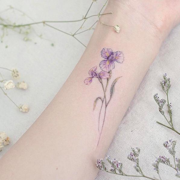 101 Girly Tattoos You Ll Wish You Had This Summer Iris Tattoo Neck Tattoo Trendy Tattoos