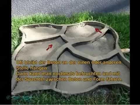 Diy - Gartenweg Oder Terrasse Mit Giesformen Selbst Anlegen ... Gartenweg Anlegen Tipps Selbermachen