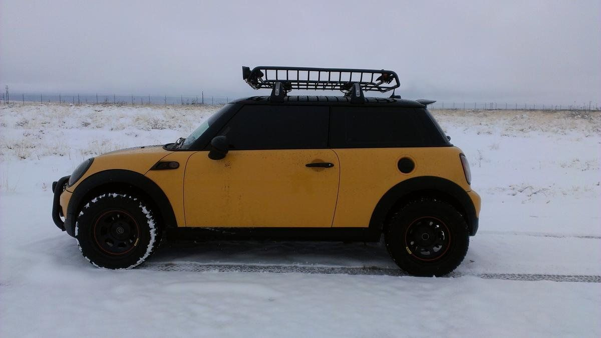 Off road mini cooper with a lift kit north american motoring