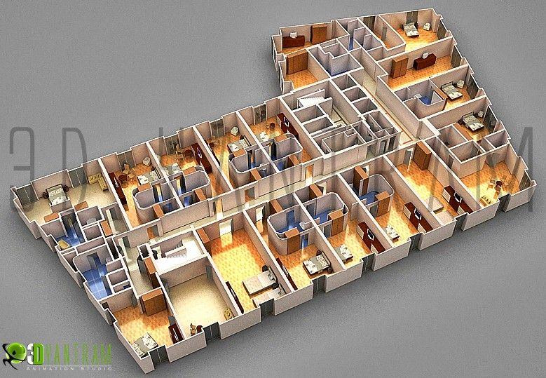 3d Section Floor Plan Floorplans House Hotel Floor Plan Floor Plan Design Hospital Floor Plan