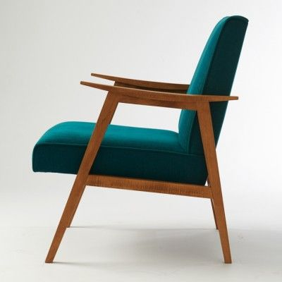Vintage Petroleum Blue Ch Pt Armchair 01 Chairs In 2019 Armchair