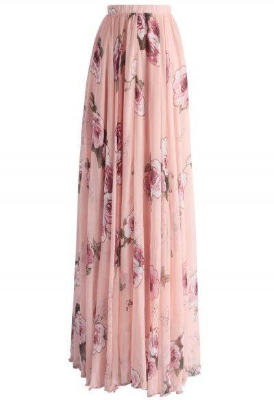Rosa Rosafarbener Panache Maxi Rock Mode Rocke Modestil Rock Outfit