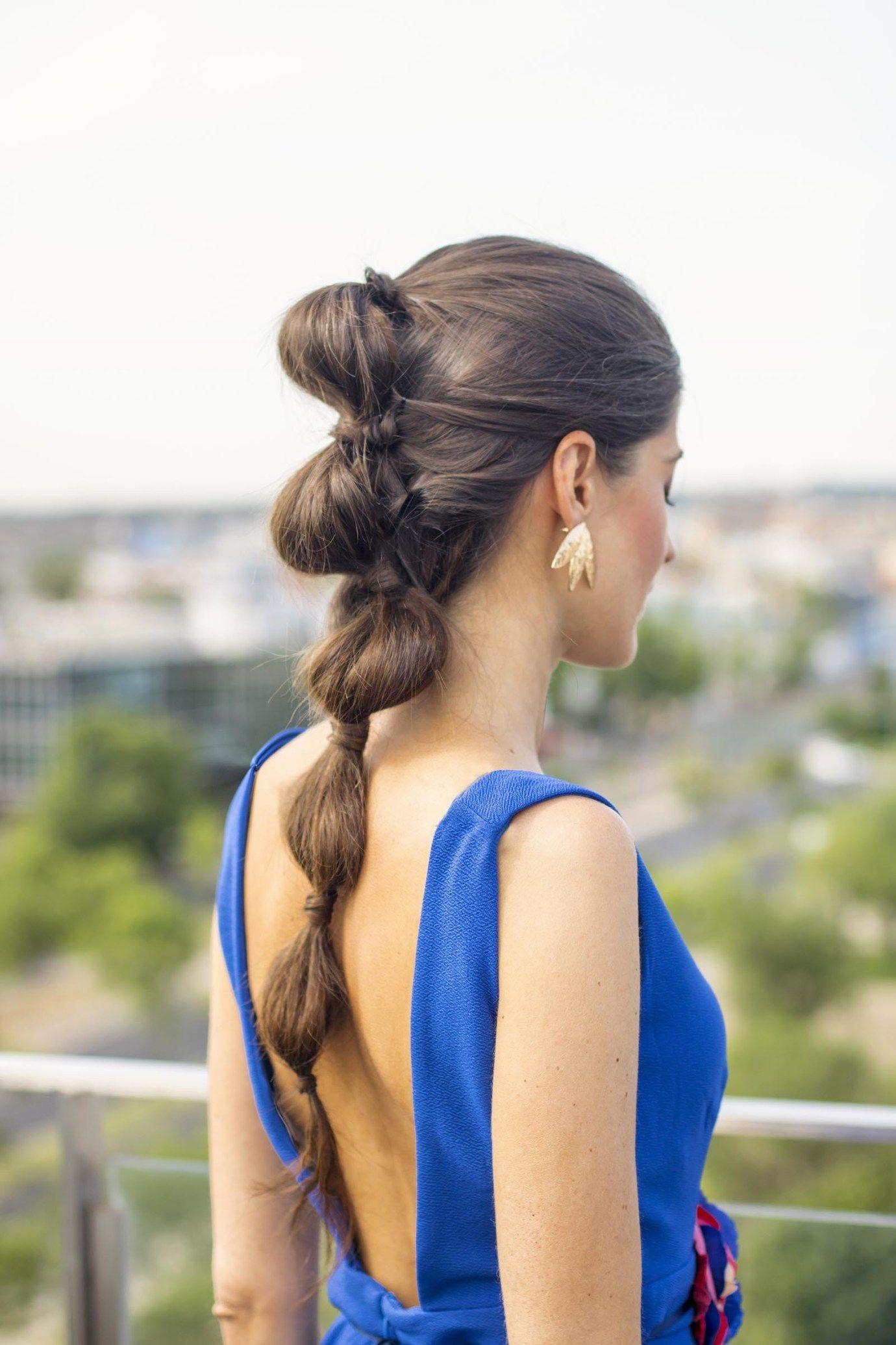 Peinado Coleta Burbujas Invitada Boda Peinados Con Coleta Peinados Boda Pelo Largo Peinados