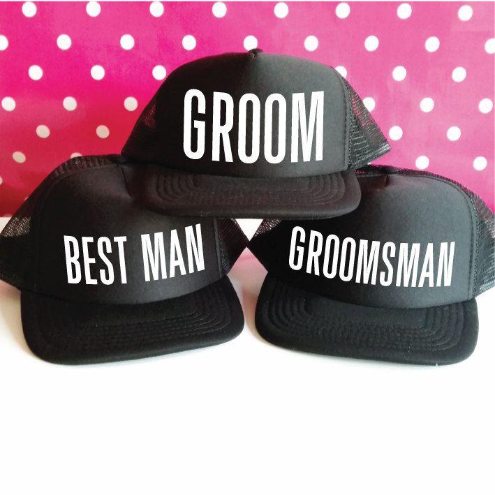 e21aee73 Bachelor Party Hats. Team Groom Hats. Groom Hat. Best Man Hat. Groomsman Hat.  Stag Party Hats. Snapback Trucker Caps. by SoPinkUK on Etsy