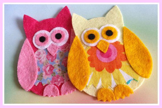 Fabulous Felt and Fabric Owls, Die Cut Craft Embellishments