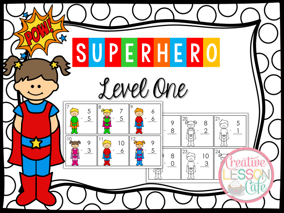 Jeannine {Creative Lesson Cafe} PRIMARY POWERS FREEBIE~ Subtraction ...
