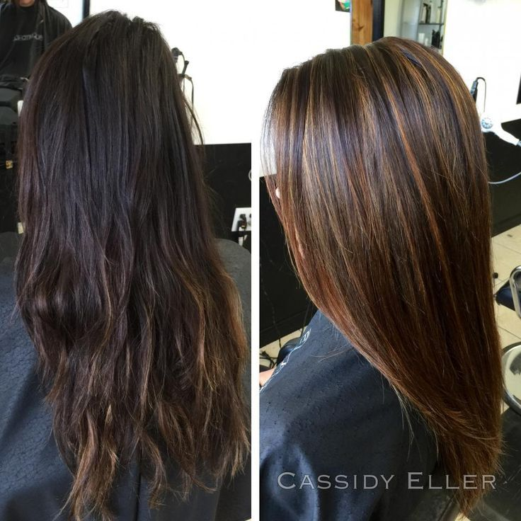 Dark brown hair with caramel highlights before and after google dark brown hair with caramel highlights before and after google search pmusecretfo Image collections