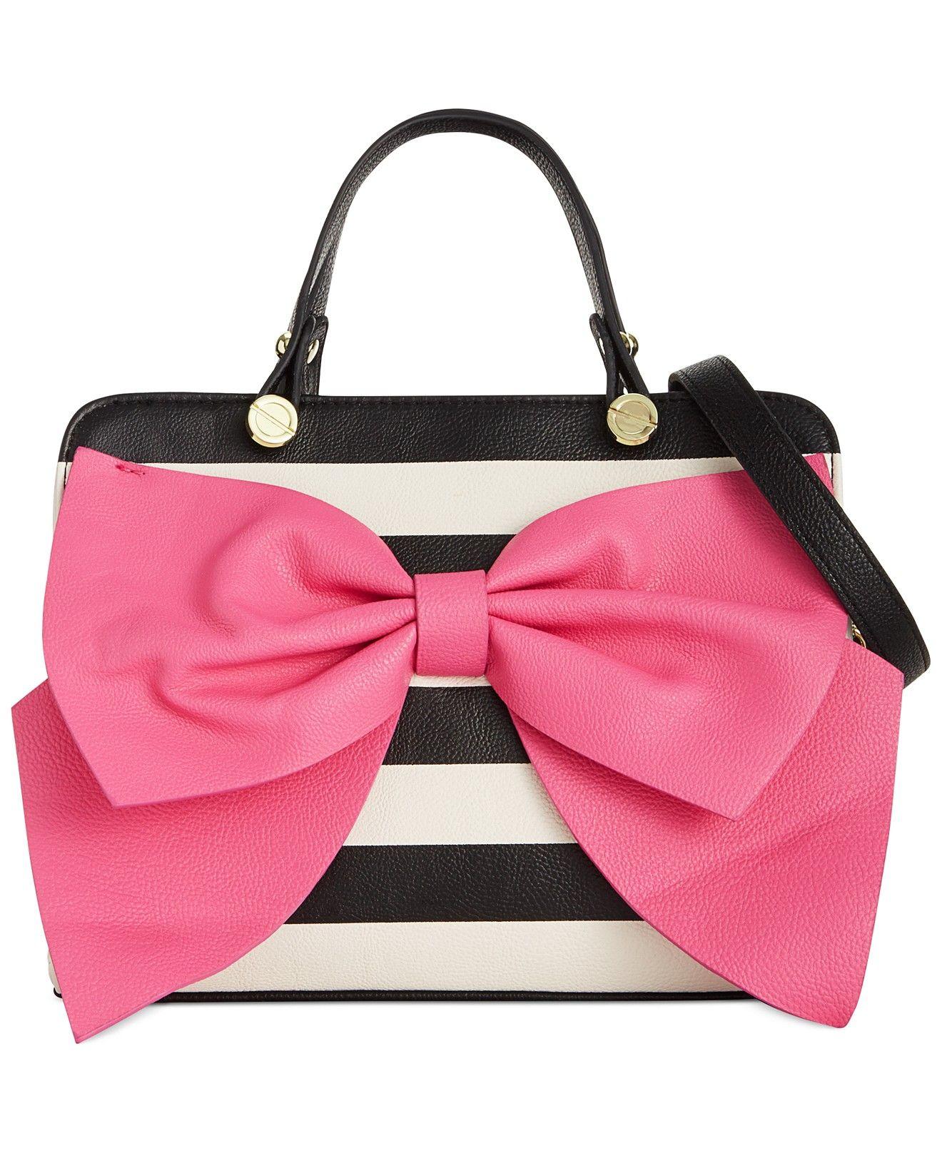 c7ceeadff Betsey Johnson Bow Regard Satchel - Handbags & Accessories - Macy's ...