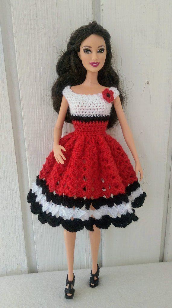 Barbie Clothes Barbie Crochet Dress For Barbie Doll Crochet