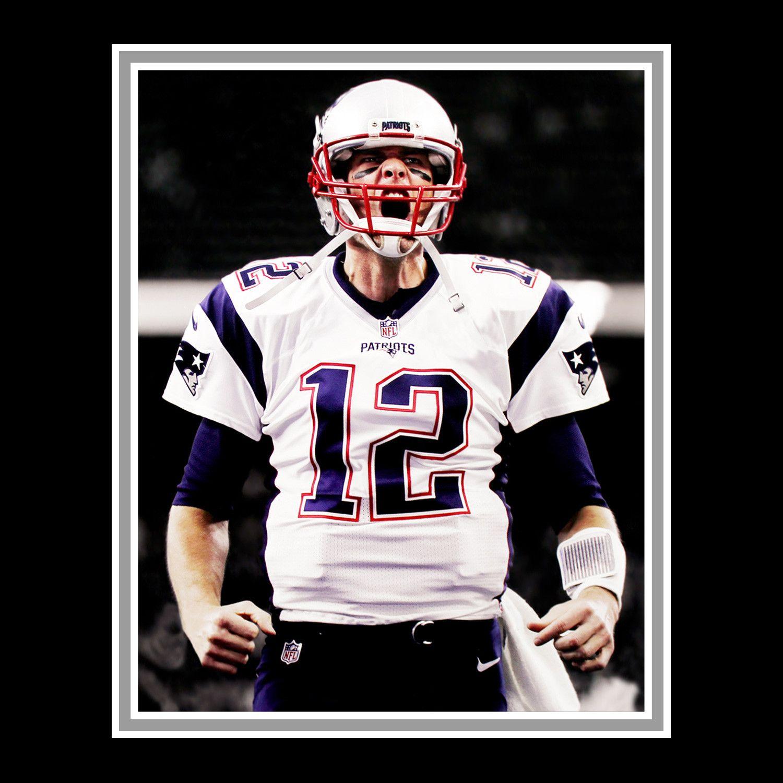 Tom Brady Signed New England Patriots White Jersey Custom Frame New England Patriots White Jersey Best Quarterback