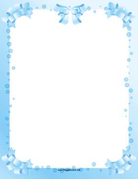 Pretty Light Blue Ribbons And Dots Decorate This Formal Printable Border That S Great For Baby Shower Borders For Paper Free Paper Printables Baby Stationery