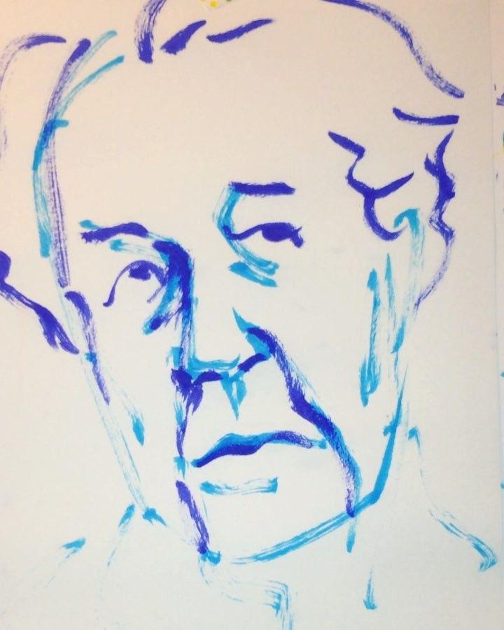 いいね!7件、コメント1件 ― @1mindrawのInstagramアカウント: 「#1mindraw #franklloydwright #フランクロイドライト #18670608 #birthday #誕生日 #portrait #筆ペン画」