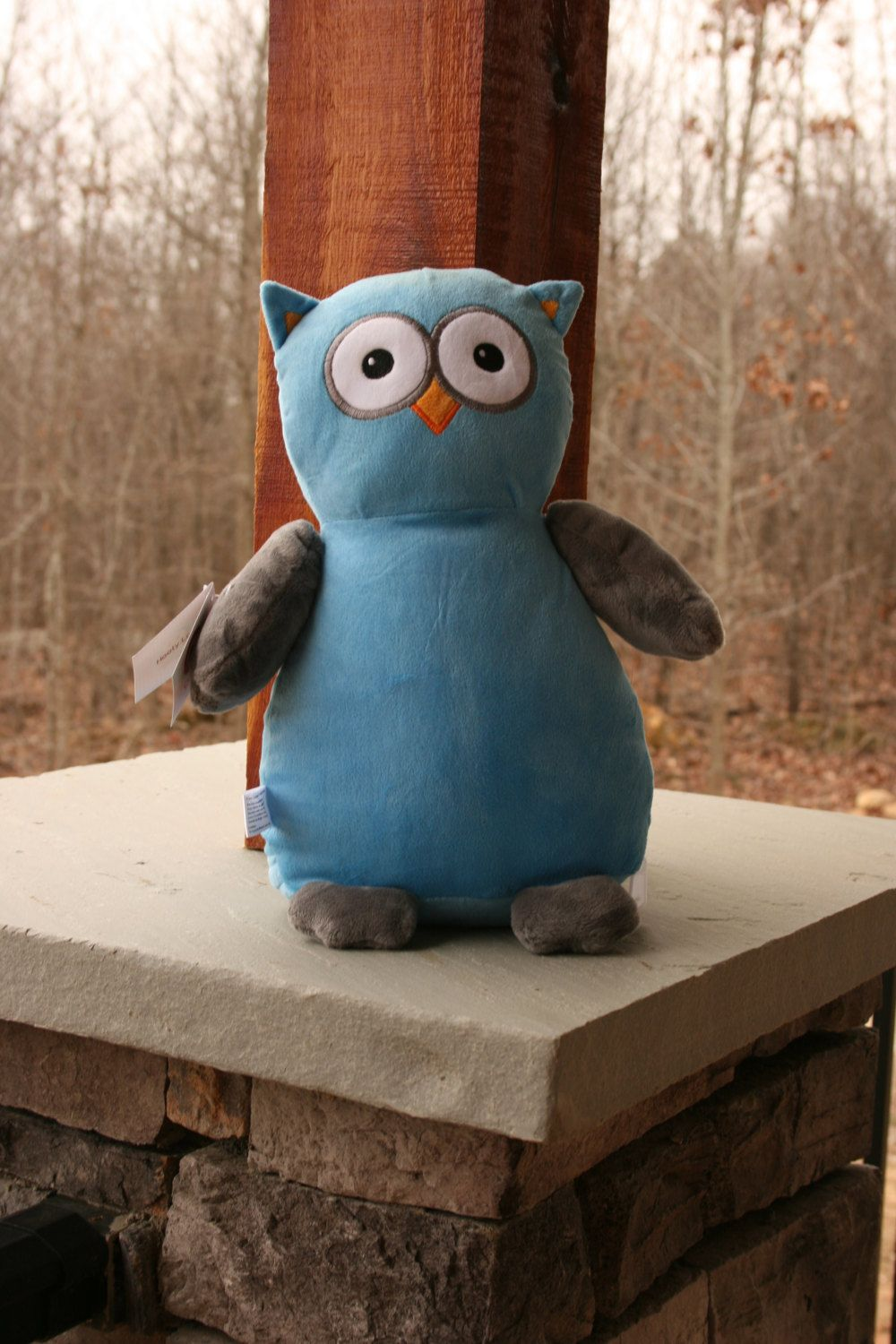 Monogrammed Plush Owl Baby Shower Gift by DoubleBMonograms on Etsy