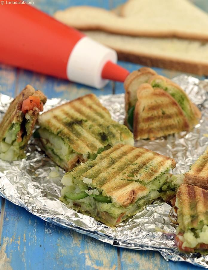 Vegetable Grilled Sandwich Mumbai Roadside Veg Grilled Sandwich Recipe Grilled Sandwich Grilled Vegetables Recipes