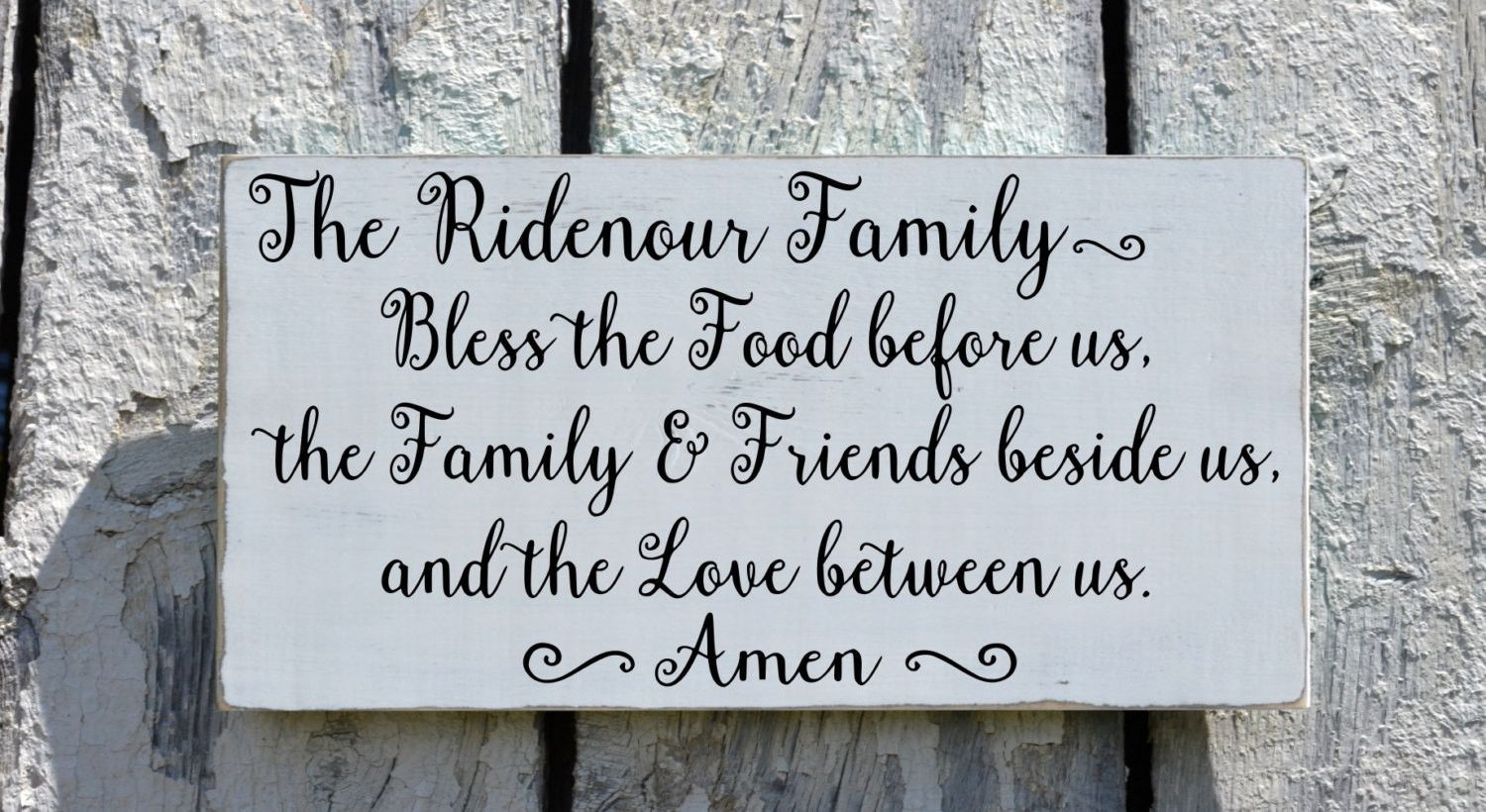 Kitchen Sign Personalized Wall Art Dining Room Decor Bless The Food ...