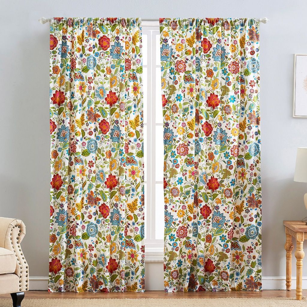 Greenland Home Fashions 2 Pack Astoria Spice Window Curtains In