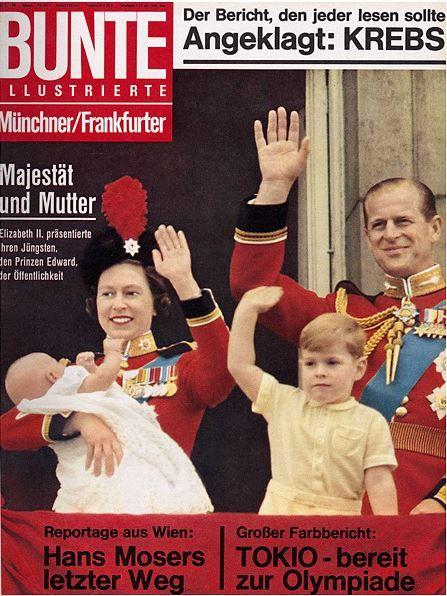 1964: Königin Elizabeth von Großbritannien mit Familie