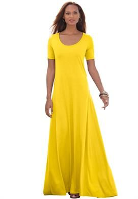 Plus Size Petite Maxi Dress,4\'-11\