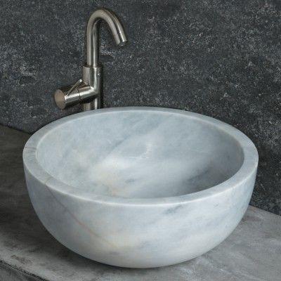 FIANO GREY Runde marmorwaschbecken. Die Armaturen können sowohl am ... | {Armaturen waschbecken wand 29}