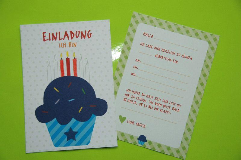6+x+individuelle+Einladung+Kindergeburtstag+Muffin +von+OOH+HAPPY+DAY+auf+DaWanda.com