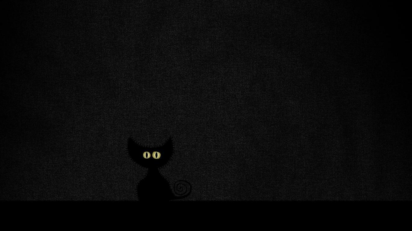 Http Www Blirk Net Wallpapers 1366x768 Black Cat Wallpaper 2 Jpg