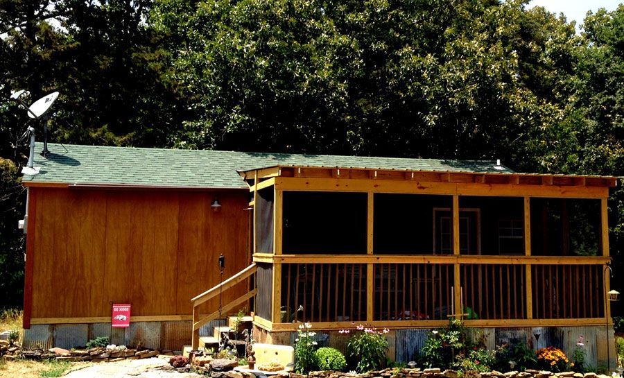 House built from a storage building Mortgage free living My
