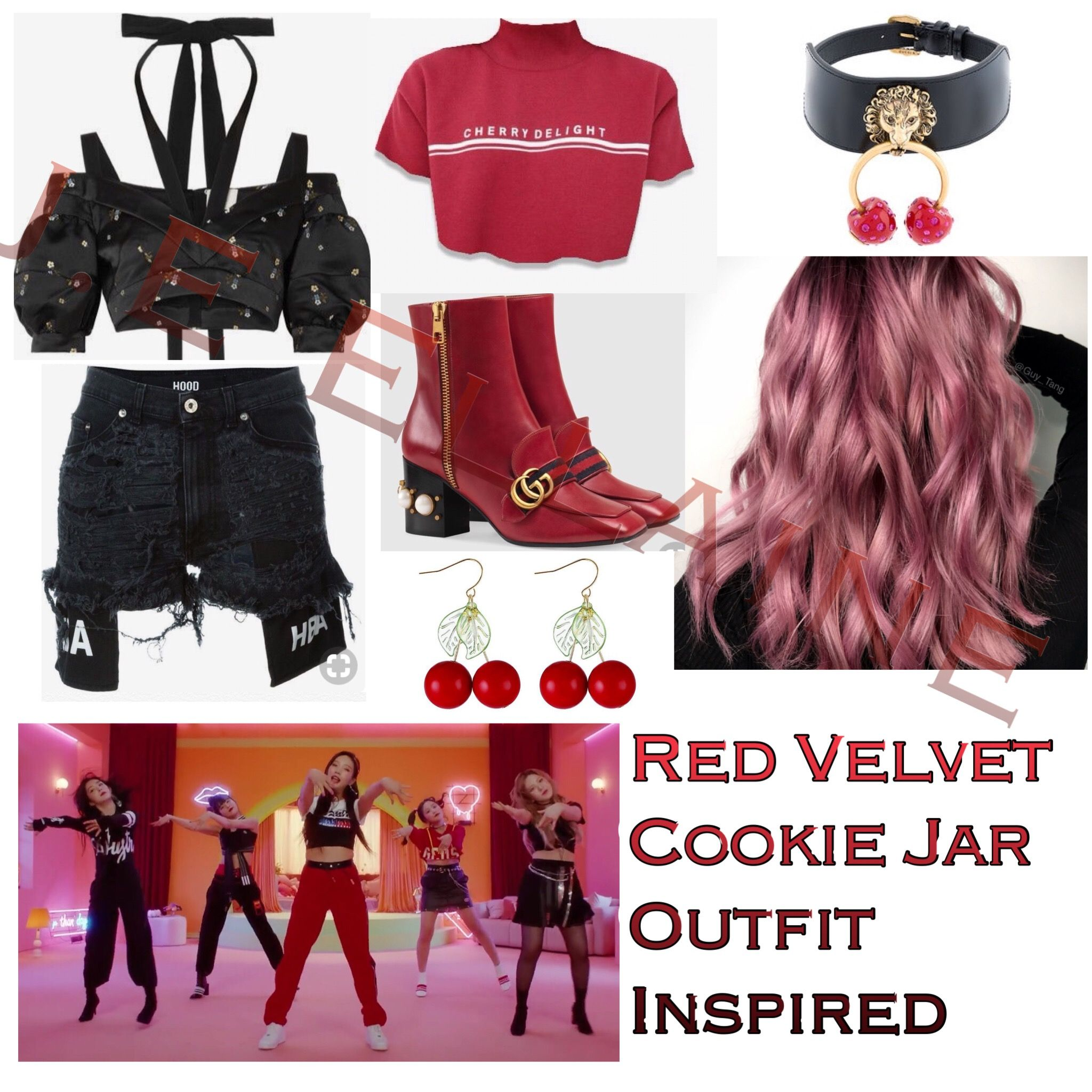 Red Velvet Cookie Jar Outfit  Kpop outfits, Kpop fashion outfits