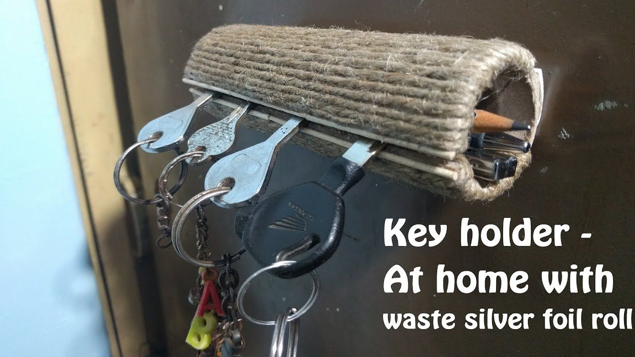 How To Make Key Holder Very Easy With Waste Life Hacks