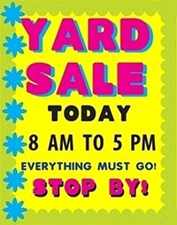Make A Everything Must Go Poster Yard Sale Poster Ideas Yard