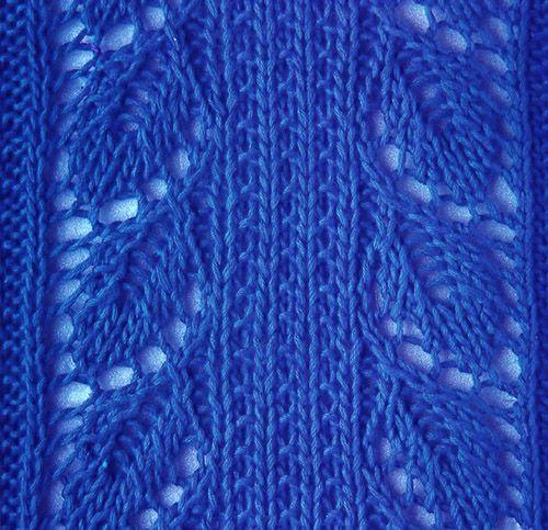 Leaf Knitting Stitch Pattern Lace Patterns Wow Pinterest