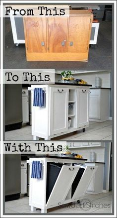 Kitchen Island Cheap cabinet transformed into a kitchen island | cheap kitchen islands