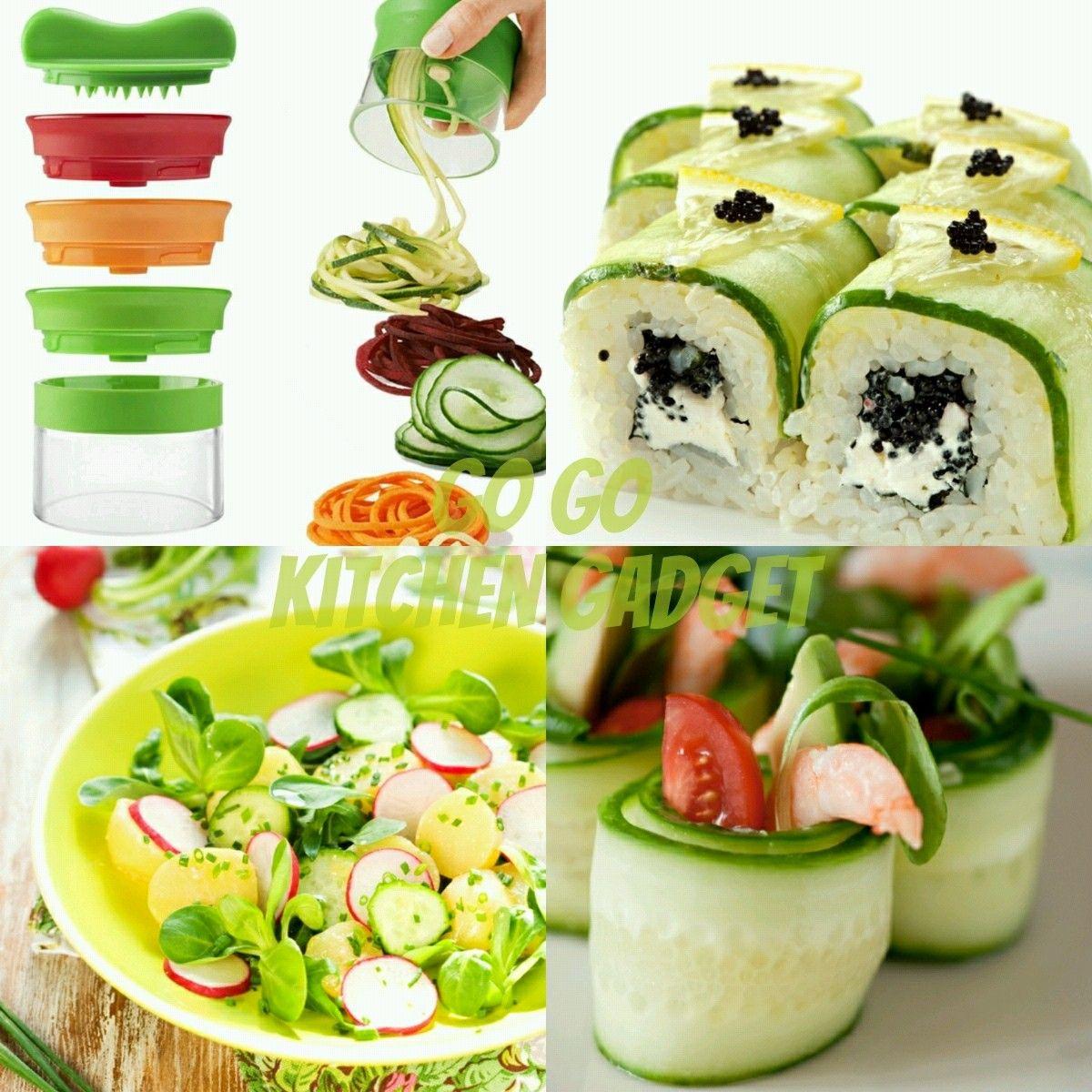 With Go Go Kitchen Gadgets Vegetable Spiralizer. Make Veghie Noodles In No  Time