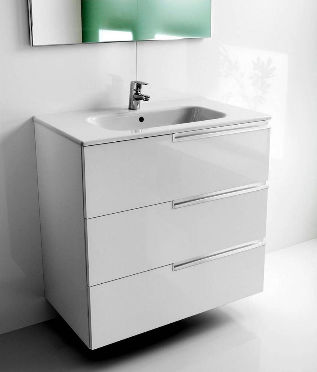 Roca Victoria-N 3 Drawer Vanity Unit with Basin : UK Bathrooms ...
