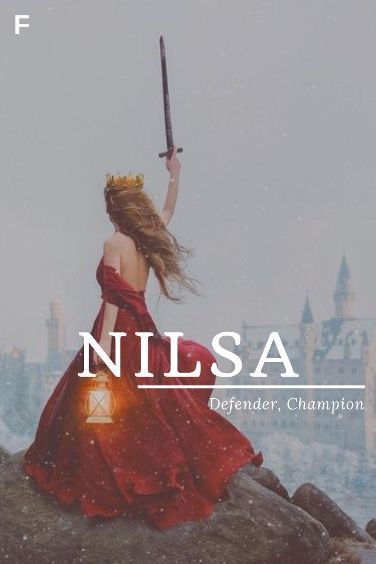 Nilsa, meaning Defender, Champion, Scandinavian names, N baby girl names, N baby... - Anna #babygirlnames