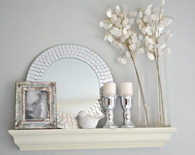 cute shelf styling