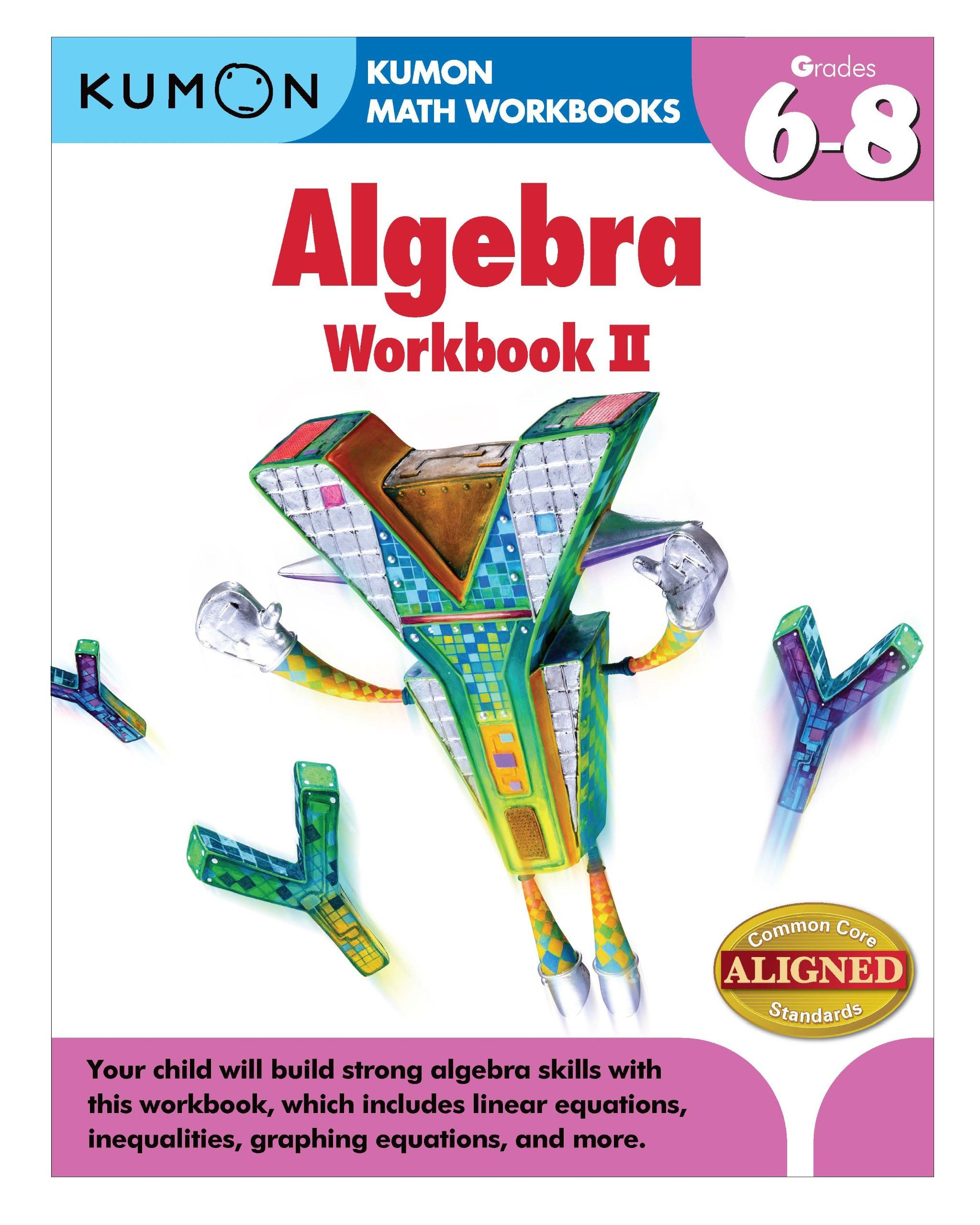 Kumon Algebra Workbook Ii Kumon Math Workbooks Jason Wang Kumon Publishing 9781935800866 Amazon Com [ 2560 x 2048 Pixel ]