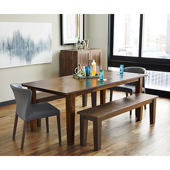 Basque Honey 82 Dining Table In Dining Tables Crate And Barrel Gray Dining Chairs Comfortable Dining Chairs Dining Table