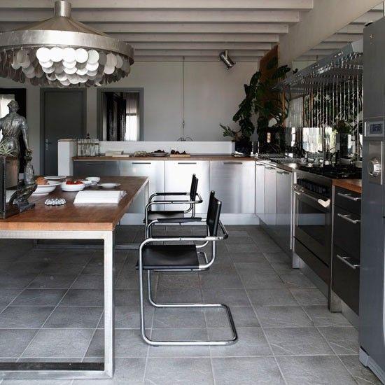Modern Industrial Kitchens: Dark Marble Kitchen