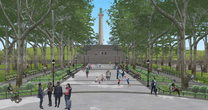 Landmarks Has Approved A New Entrance To Brooklyn S Fort Greene Park That Eliminates A Rare Public Work B Parking Design Modern Landscaping Landscape Architect