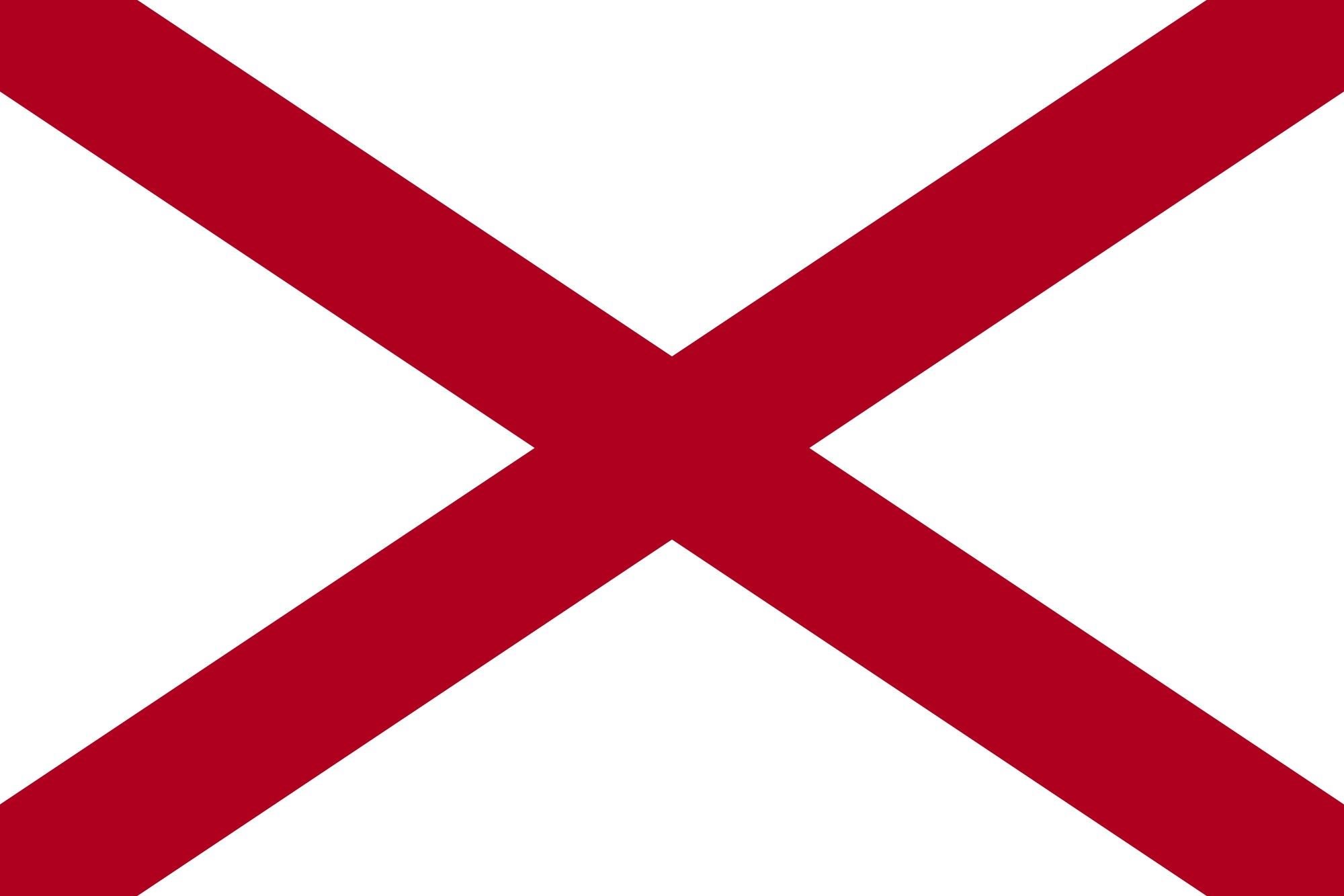 Alabama State Flag Alabama State Flag Coloring Pages State Flags