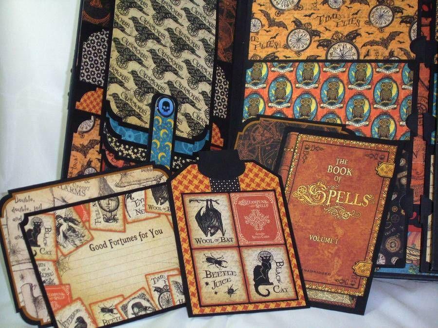 Premade Gatefold Scrapbook Album Halloween Steampunk Graphic 45 Iopg