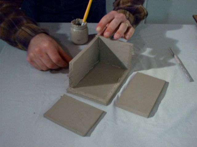 Photos for steps on a slab box lesson ideas pinterest for Clay making ideas